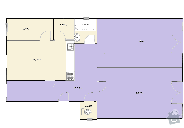Litá podlaha do bytu 76m2: byt_pudorys