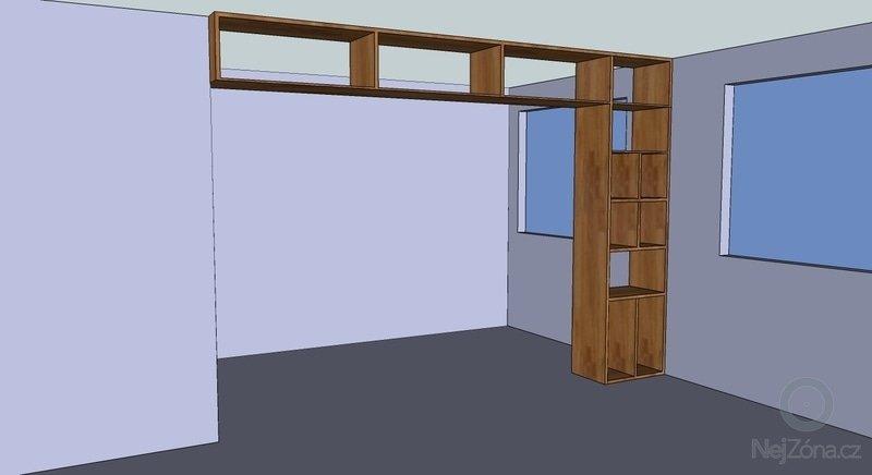 Nábytek na míru (šatní skříň, knihovna, šatna): knihovna