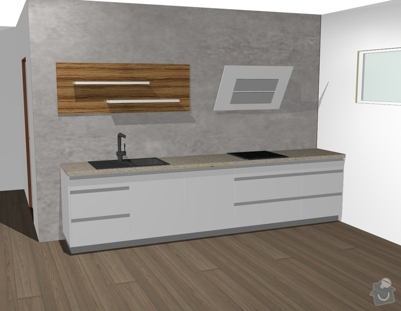Kuchyňská linka a obývací stěna: 1