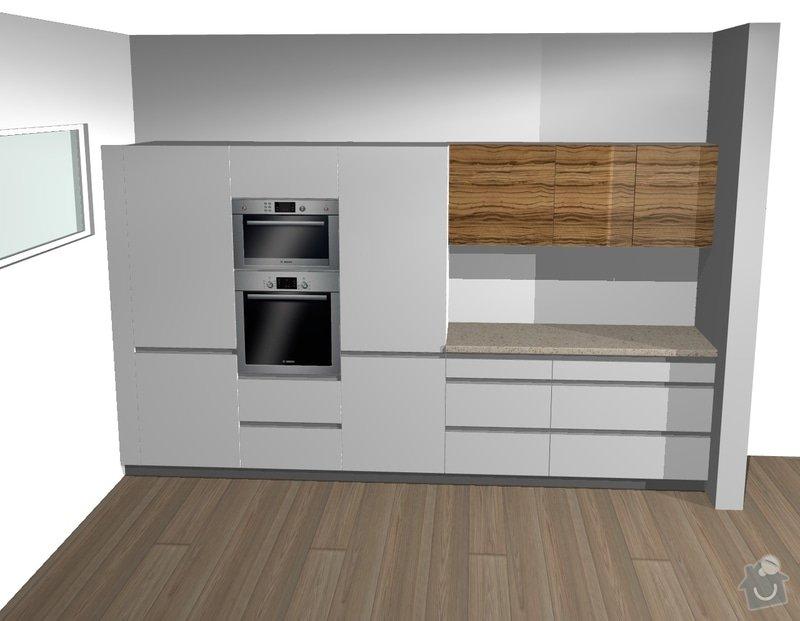 Kuchyňská linka a obývací stěna: 2