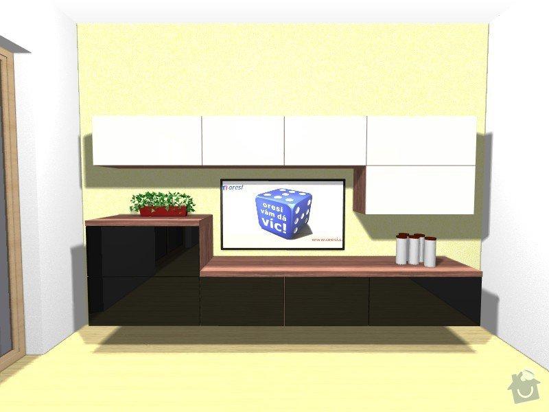 Kuchyňská linka a obývací stěna: Merkova_Mirka_-_obyvak1