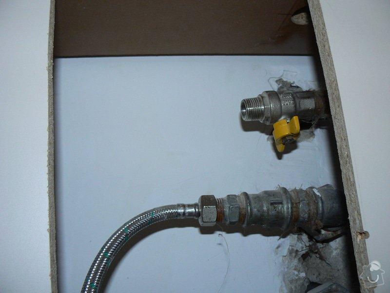 Rozvod plynu - úprava + zapojení sporáku: P1010043