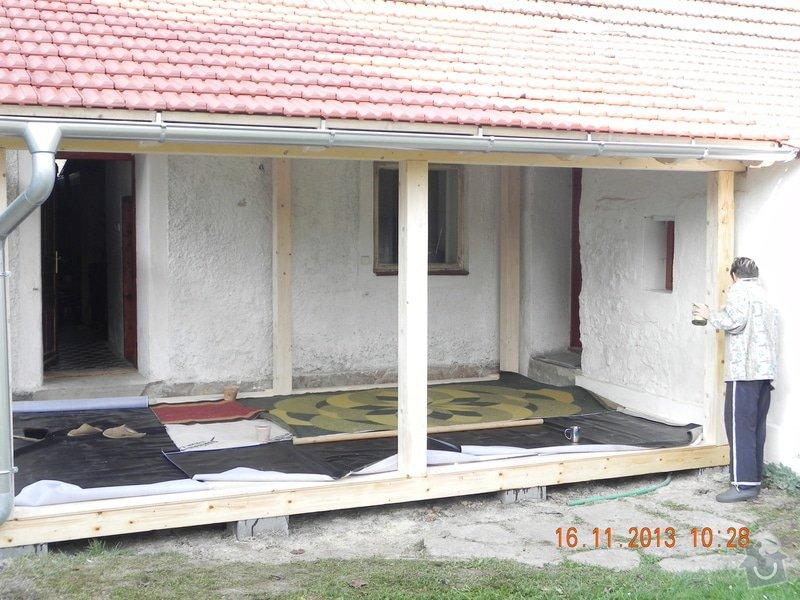 Postavení dřevěné terasy: DSCN0832