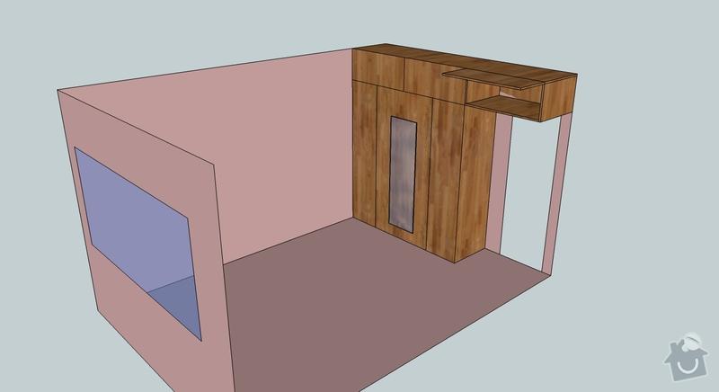 Nábytek na míru (šatní skříň, knihovna, šatna): loznice-nacrt