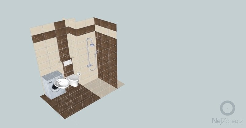 Obložení koupelny - garsonka: IMG_0624