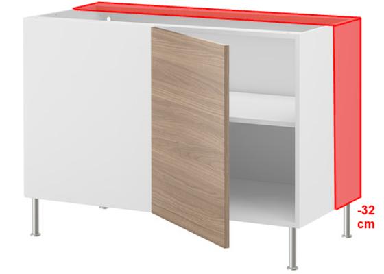 Frézovaný spoj + kolíkový spoj kuch. deska + úprava skříněk IKEA