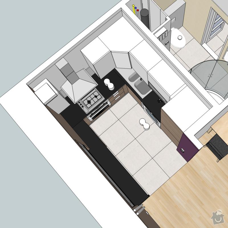 Frézovaný spoj + kolíkový spoj kuch. deska + úprava skříněk IKEA: Kuchyn_1