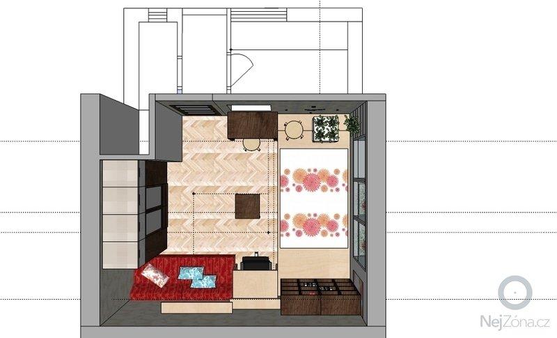 "Výroba ""pódia"" s výsuvnou postelí: hela_1_var_a"