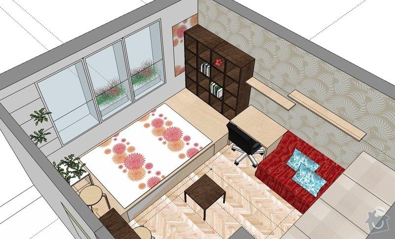 "Výroba ""pódia"" s výsuvnou postelí: hela_1_var_c"