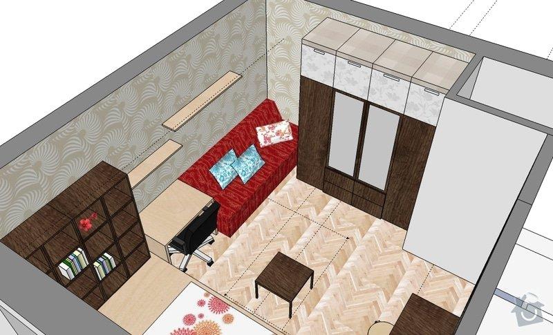 "Výroba ""pódia"" s výsuvnou postelí: hela_1_var_d"
