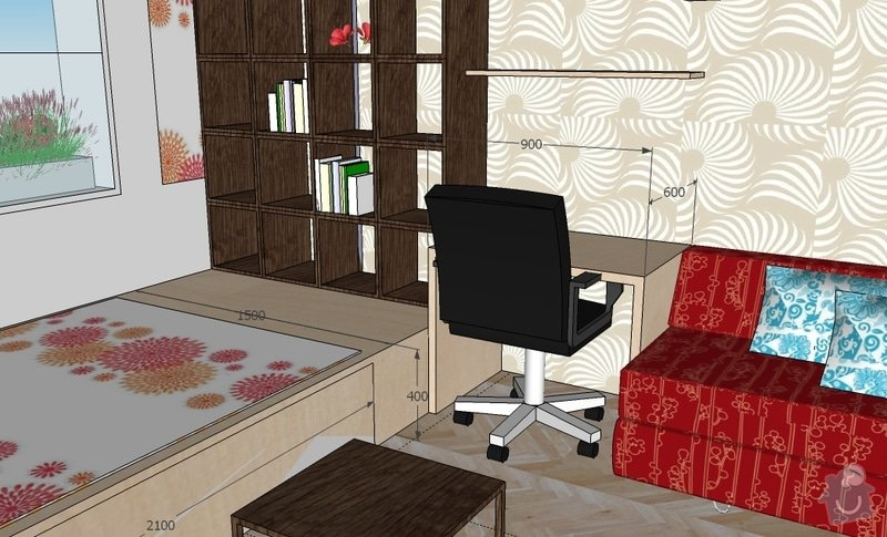 "Výroba ""pódia"" s výsuvnou postelí: hela_1_var_g"