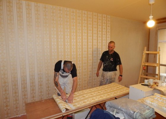 Vymalování a tapetování, 1 místnost v paneláku