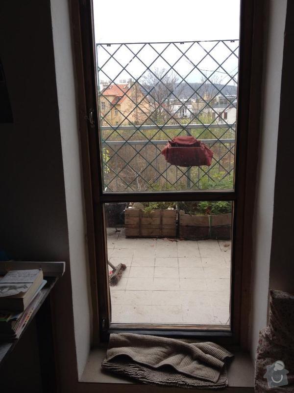 Oprava dveri na terasu: dvere1