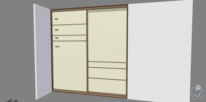 Vestavěné skříně 3x: loznice_dvere