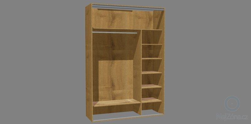 Vestavěné skříně 3x: komora_zastavba