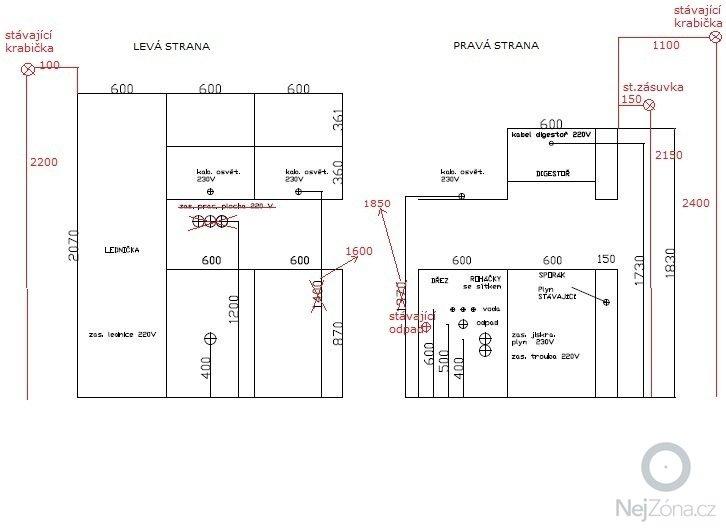 Elektroinstalace v kuchyni: elektrina