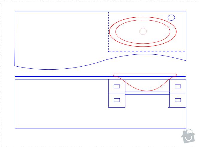 Výroba desky pod umývadlo: navrh