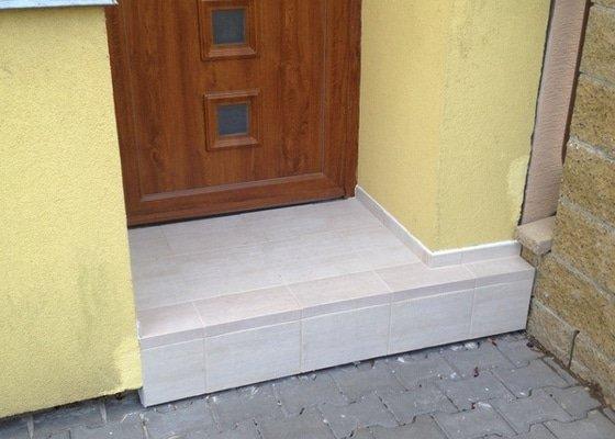 Obložení vstupního schodu RD