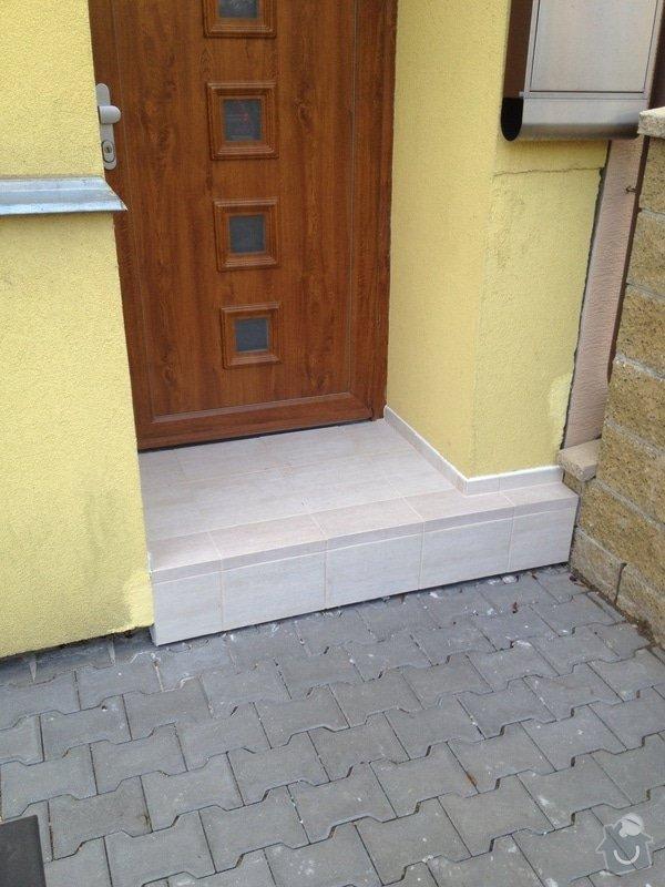 Obložení vstupního schodu RD: Obrany_vchod04