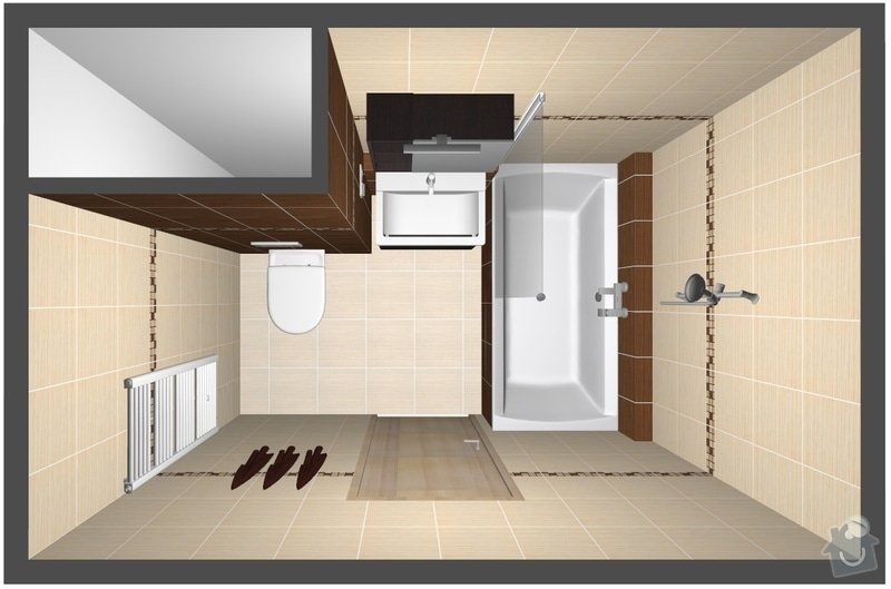 Rekonstrukce bytového jádra: var2_pohled1