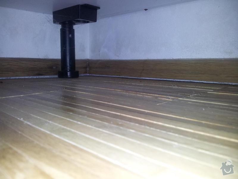 Oprava dřevěné podlahy po vytopení: 20131125_204802