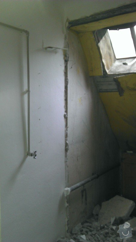 Přestavba komory na koupelnu pro hosty: foto6