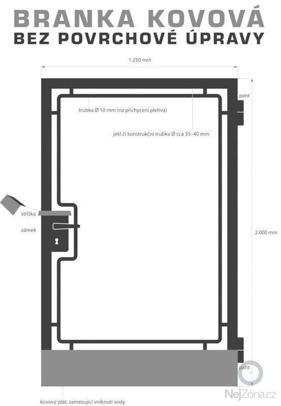 Výroba a montáž kovové branky: branka