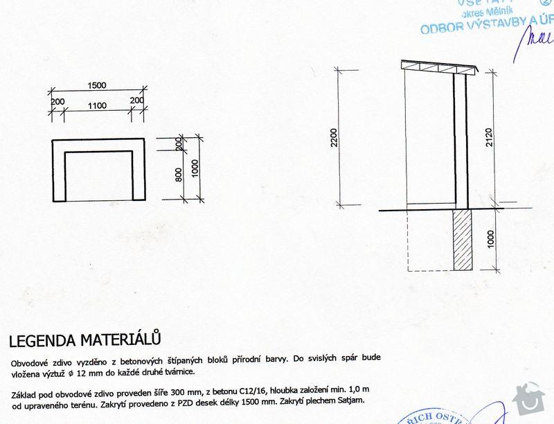 Obezdění skříňky s elektroměrem, stavba přístřešku na popelnici: popelnice_planek