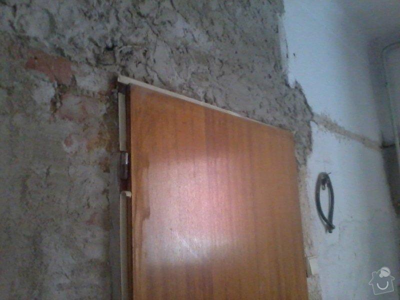 Malířské a zednické práce (3 místnosti) : Nahozeni_zdi_-_detail