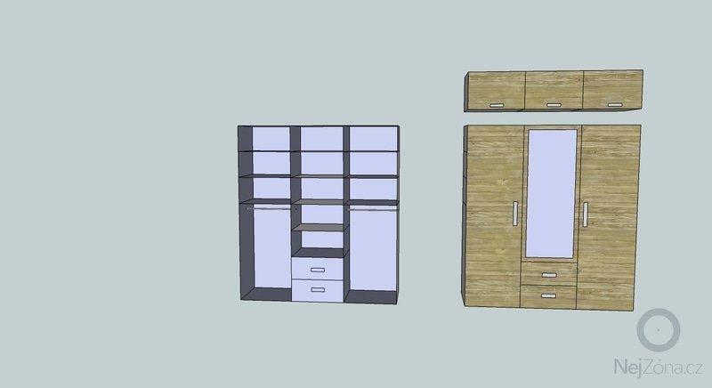 Nábytek na míru (šatní skříň, knihovna, šatna): skrin-cleneni