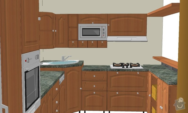 Kuchyňská linka: 1
