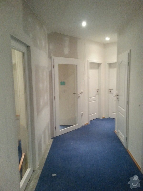OSB podlaha,SDK příčka,úprava elektro: 20131115_173933