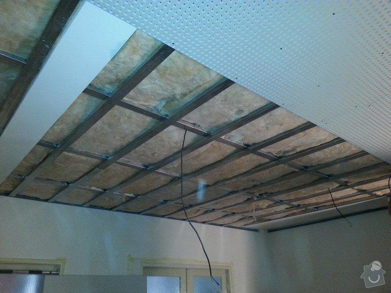 Montáž sádrokartonového podhledu, ca 30 m2: 20131125_143543