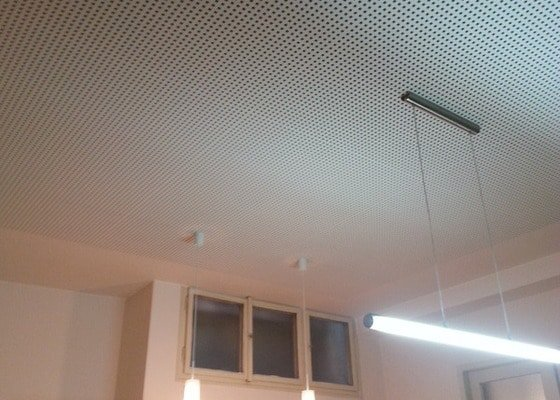 Montáž sádrokartonového podhledu, ca 30 m2