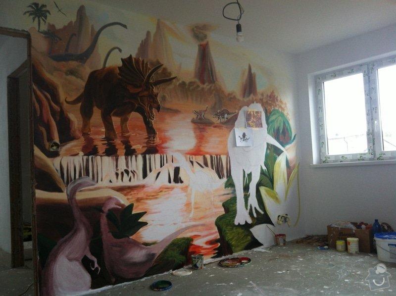 Malba v dětském pokoji - Dinosauři: IMG_2967
