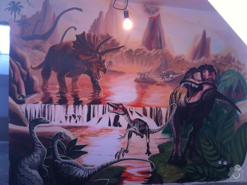Malba v dětském pokoji - Dinosauři: IMG_2972