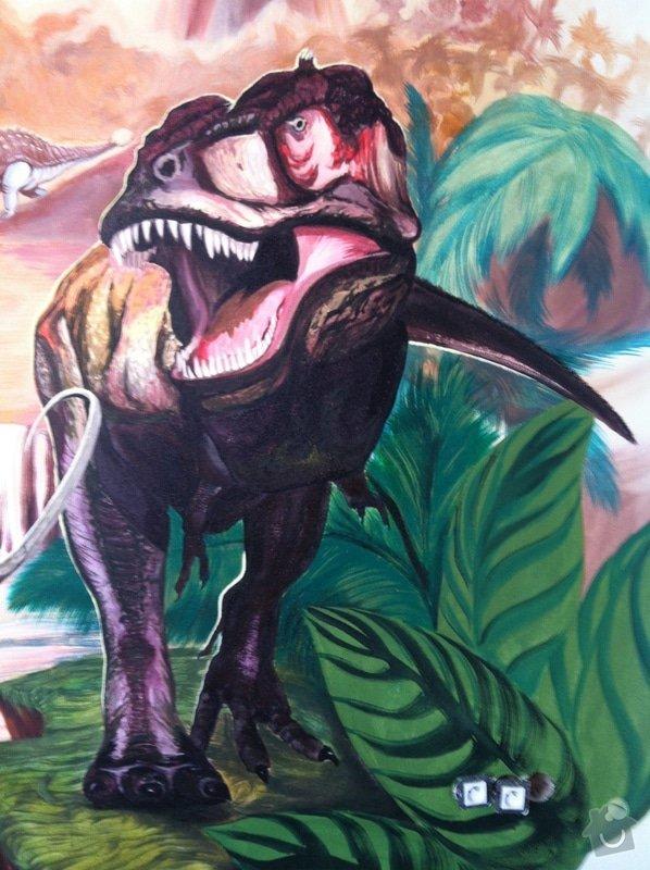 Malba v dětském pokoji - Dinosauři: IMG_2975