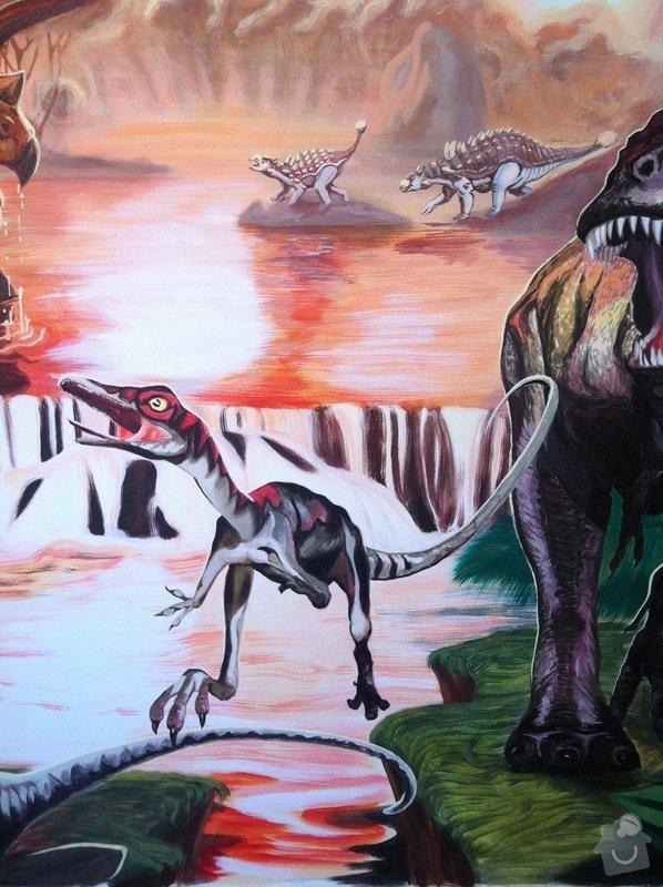 Malba v dětském pokoji - Dinosauři: IMG_2977