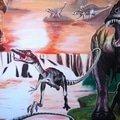 Malba v detskem pokoji dinosauri img 2977