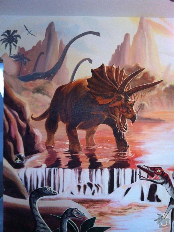 Malba v dětském pokoji - Dinosauři: IMG_2979