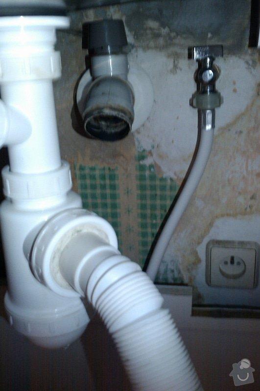 Napojení sifonu/myčky do nestandardního odpadu: IMAG1013