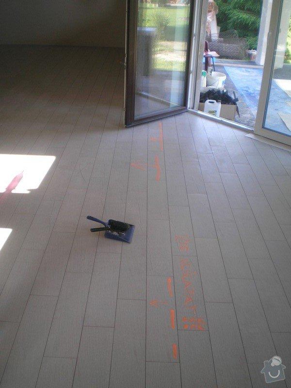 Provedení obkladů a dlažeb v novostavbě RD: P6130002
