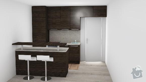 Kuchyň a vestavěnou skřín: Kuchyn_navrh_1