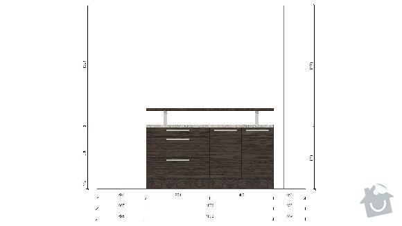 Kuchyň a vestavěnou skřín: Ostruvek_navrh_1