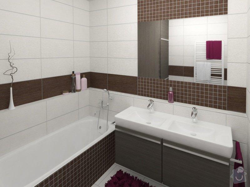 Dvě koupelny v novostavbě bytu: koupelna_1_pohled_1