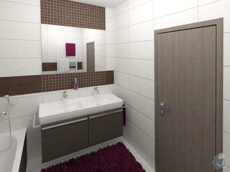 Dvě koupelny v novostavbě bytu: koupelna_1_pohled_2