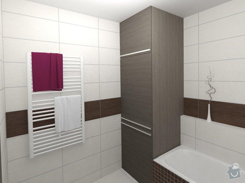 Dvě koupelny v novostavbě bytu: koupelna_1_pohled_3