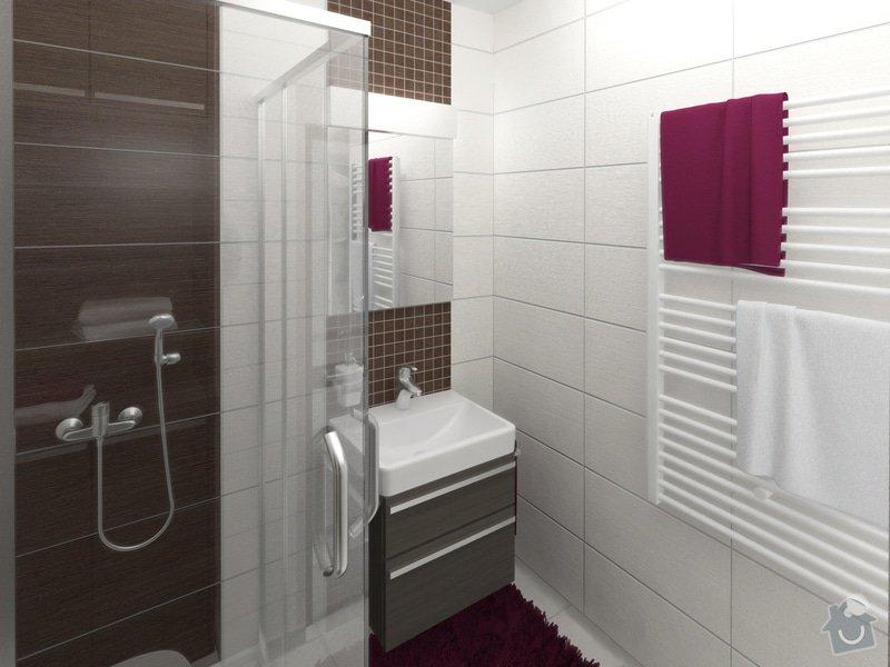 Dvě koupelny v novostavbě bytu: koupelna_2_pohled_1