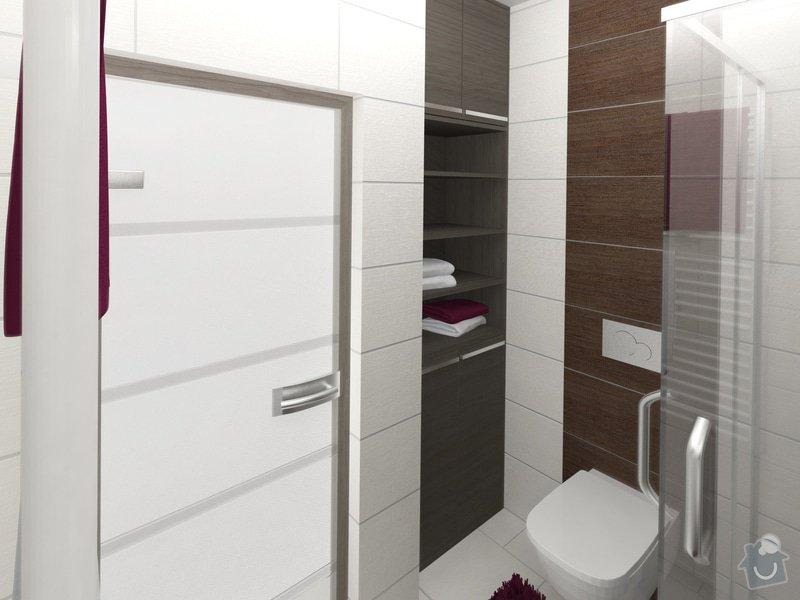 Dvě koupelny v novostavbě bytu: koupelna_2_pohled_2