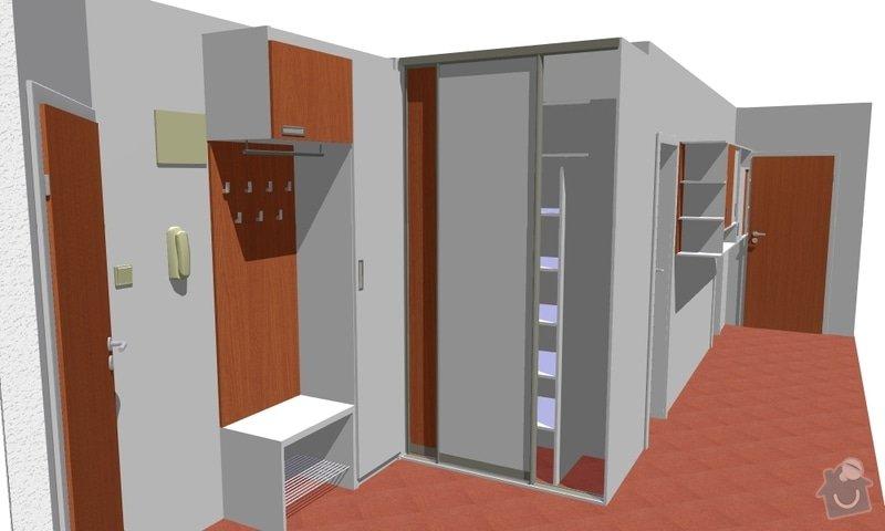 Vestavěná skříň a knihovna do předsíně: vestavka